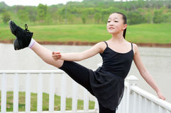 The basic practice dancing girl Stock Images