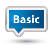 Basic prime blue banner button Stock Photography