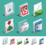 Basic Printing icon set. Basic isometric icons for Print shop Stock Photo