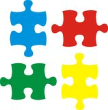 Basic puzzle pieces Stock Photos