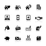 Basic - Real estate icons. 16 real estate icons set royalty free illustration