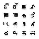 Basic - Real estate icons Stock Images