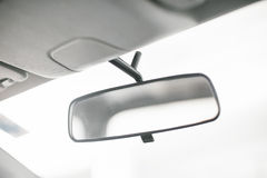 Basic rear view mirror Stock Photography