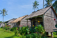 Basic resort on Rabbit island in Cambodia Stock Image
