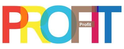 Profit word stock illustration