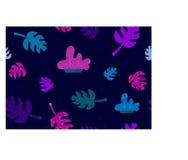 Tropical leaves Background stock illustration
