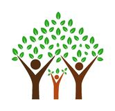 Family tree stock illustration