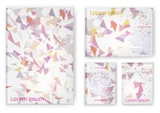 Abstract composition, business card set. A4 design sheet stock illustration