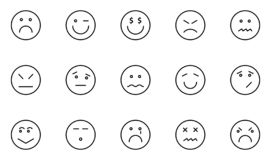 Emoticon and Emoji Isolated Vector icons pack that can be easily modified or Edit in any Color vector illustration