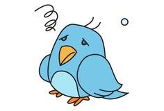 Illustration Of Cute Cartoon Bird royalty free illustration