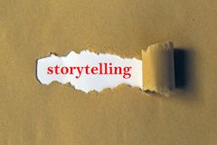 Storytelling heading. Under ripped paper royalty free stock images