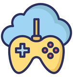 Cloud Gaming Isolated Vector Icon that can easily modify or edit. royalty free illustration
