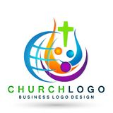 Globe world Church People union logo icon winning happiness love together team success wellness health symbol on white background. Church People union family vector illustration