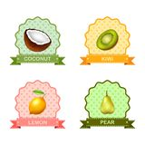 Label for fruits, vector illustration stock illustration