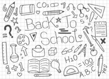 Set of Back To School doodles - Vector royalty free illustration
