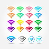 Colorful wireless a great connection stock illustration