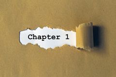 Chapter 1 heading. Behind torn brown paper stock photos