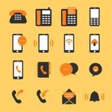 Communication icon set Phone Vector illustration stock illustration