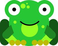Flat design frog royalty free stock photo