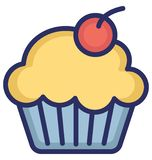 Muffin Isolated Vector icon that can be easily modified or edit vector illustration