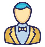 Butler Vector Icon which can easily modify or edit vector illustration