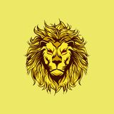 The Yellow Angry Lion Mascot stock illustration