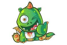 Cartoon Illustration Of Cute Baby Dragon. royalty free illustration