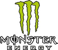 Monster energy logo icon. Monster Energy is an energy drink introduced by Hansen Natural Company in April 2002. The company is also known for supporting many royalty free illustration