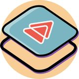 Next button isometric icon flat design vector illustration
