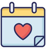Calendar Vector icon which can be easily modified or edit stock illustration