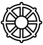Boat wheel Vector icon which can be easily modified or edit in any color royalty free illustration