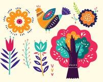 Decorative floral elements stock illustration