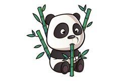 Vector Cartoon Illustration Of Cute Panda. stock illustration
