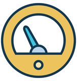 Gauge Vector icon which can be easily modified or edit in any color vector illustration