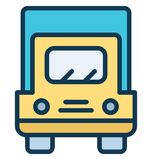 Convoy Vector icon which can be easily modified or edit in any color vector illustration