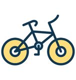 Bicycle Vector icon which can be easily modified or edit in any color stock illustration