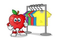 Apple t shirt stand mascot vector cartoon illustration vector illustration