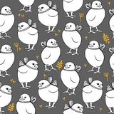 Seamless vector pattern with chicken vector illustration