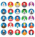 Professional and People Color Vector Icons set That can be easily modified or edit Professional and People Color Vector Icons set stock illustration