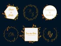 Wedding invitation floral wreath minimal design. Vector template with flourishes ornament elements.  vector illustration