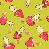 Mushrooms in Pea Soup. royalty free illustration
