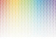 Rainbow polka dots background stock illustration