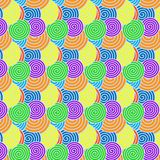 Seamless Spiral Pattern with Rainbow Colors for Abstract Background vector illustration