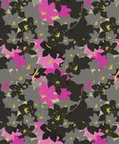 Pink and Black cherry blossom Floral Seamless Pattern. The Pink and Black cherry blossom pattern new design for fabric prints and decor vector illustration