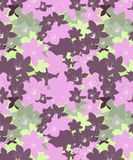 Green, purple , pink cherry blossom Floral Seamless design. The green,purple, pink cherry blossom pattern new design for fabric prints and decor stock illustration