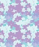 Pastel colors cherry blossom seamless pattern. The Pastel colors orchids seamless pattern of light purple , pink, blue colors is new seamless designs for t royalty free illustration