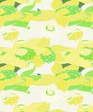 White and yellow floral orchid pattern stock illustration