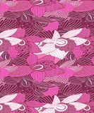 Seamless Purple & Pink Orchids Pattern Seamless royalty free illustration