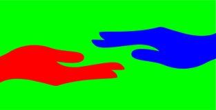 Hand black red vector illustrations symbol icon shake color help background. Basic rgb hand black red vector illustrations symbol icon shake color help royalty free illustration