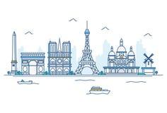 Vector Cartoon Illustration Of Skylines. vector illustration